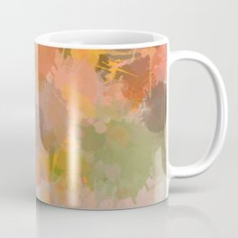 Modern contemporary Yellow Orange Abstract Coffee Mug