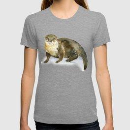 River Otter Watercolor T-shirt