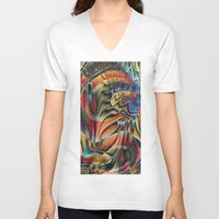 waterfall V-neck T-shirts featuring Waterfall by Klara Acel