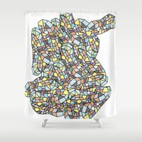 peanuts Shower Curtains featuring Peanuts by SpiritAnimal