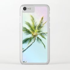 Relaxing Rainbow Color Palms Clear iPhone Case