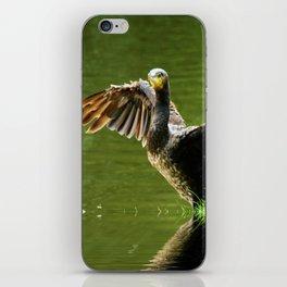 Cormorant flight iPhone Skin