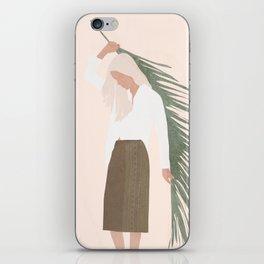 Holding a Palm Leaf iPhone Skin