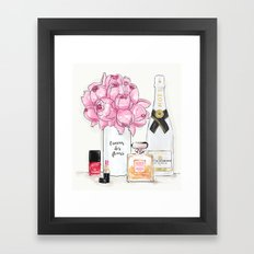 A Quiet Sunday Framed Art Print