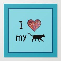 I heart my cat Canvas Print