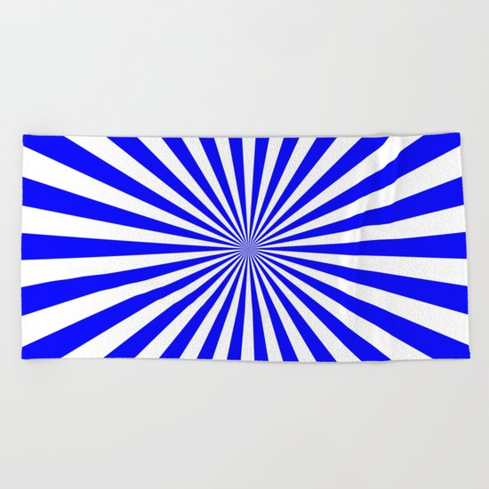 Starburst (Blue/White) Beach Towel