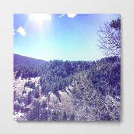 Mountain Views Metal Print