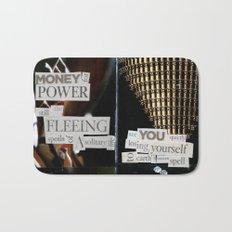 Money for Power Print Bath Mat
