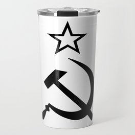 Hammer and Sickle Black and White Travel Mug