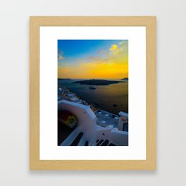 Caldera view Framed Art Print