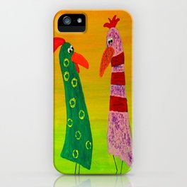 Gossiping hens by Gabriele Müller iPhone Case