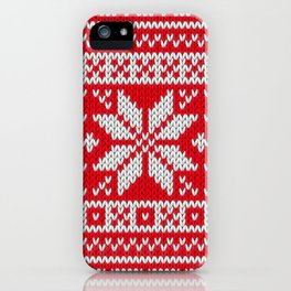 Winter knitted pattern 3 iPhone Case