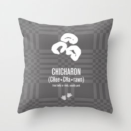 Chicharon (fried pork belly or rinds) Throw Pillow