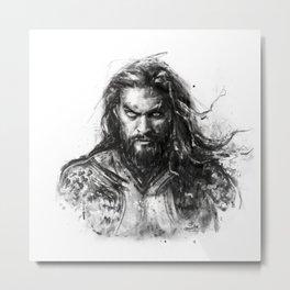 Dark Aquaman Metal Print