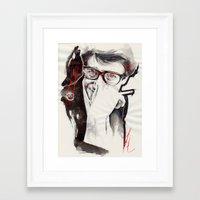 ysl Framed Art Prints featuring YSL by Mitja Bokun