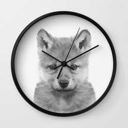 Baby Wolf Wall Clock