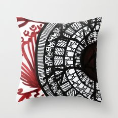 breaking own shields Throw Pillow