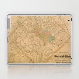 Civil War Washington D.C. Map Laptop & iPad Skin