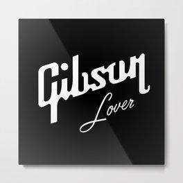 Gibson Les Paul love Guitar - logo lover - Rock Music Metal Print