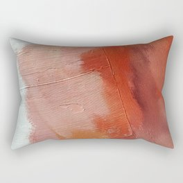 Desert Journey [1]: a textured, abstract piece in pinks, reds, and white by Alyssa Hamilton Art Rectangular Pillow