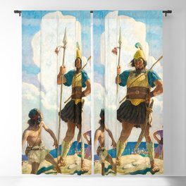 David and Goliath, 1940 by Newell Convers Wyeth Blackout Curtain