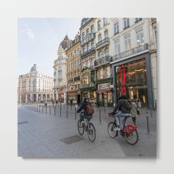 Lille Street vlille city bike Metal Print