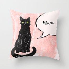 Kitty I Throw Pillow