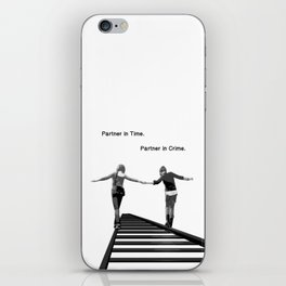 Partner in Time, Partner in Crime, Max Caulfield and Chloe Price Train Tracks iPhone Skin