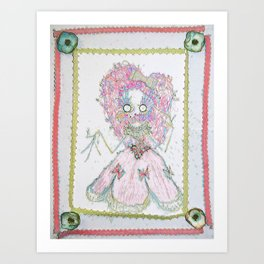 Velvetesque Dolls • Victorian Collection #3B Art Print