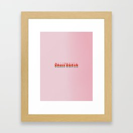 California rainbow poster Framed Art Print
