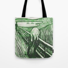 The Scream's Haze (green) Tote Bag
