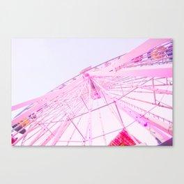 Santa Monica, Santa Monica Ferris Wheel, Pastel, California, Santa Monica Pier, Ferris Wheel, Cali Canvas Print
