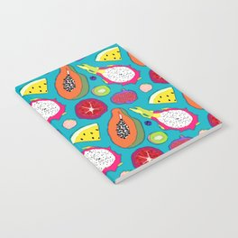 Seedy Fruits in Teal Blue Notebook