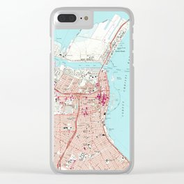 Vintage Map of Corpus Christi Texas (1968) Clear iPhone Case