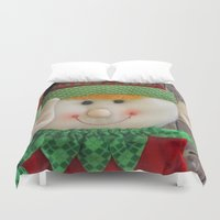 ginger Duvet Covers featuring Ginger Elf by IowaShots