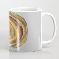 tree rings Mugs featuring Tree Rings by Rachael Shankman