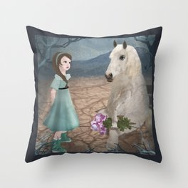 Talking with horseguy Throw Pillow