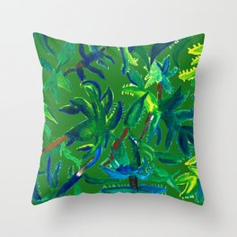 Cactus Abstract With Background Throw Pillow