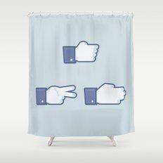 I Like Rock, Paper, Scissors Shower Curtain