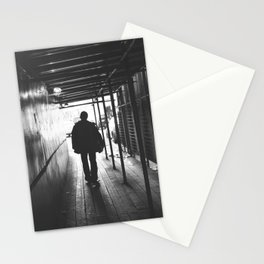 lonely guy silhouette Stationery Cards