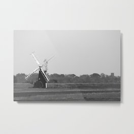 Windmill, Norfolk Broads, England Metal Print