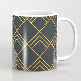 Diamond Art Deco; - Black & Gold Coffee Mug