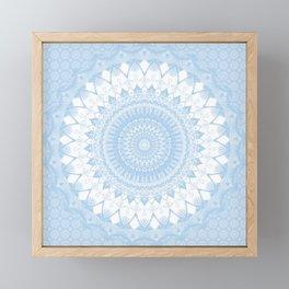 Baby Blue Boho Mandala Framed Mini Art Print