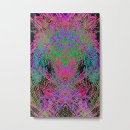 Witch Doctor Fire (psychedelic, ultraviolet) Metal Print