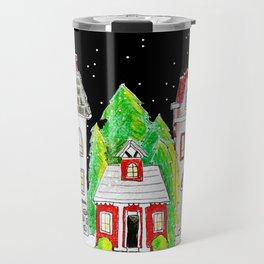 Snowy Village Travel Mug