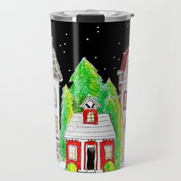 Snowy Village Travel Mug