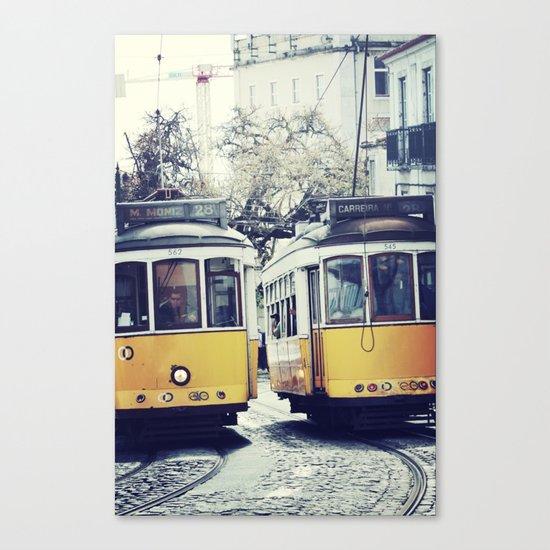 Yellow Lisbon Canvas Print
