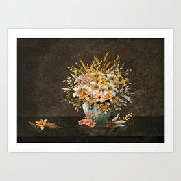 The Last Lilies of Autumn Art Print