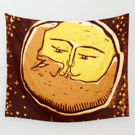 Conjunction moon and planet Wall Tapestry