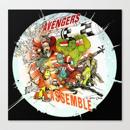 """Avengers Assemble! - a """"you're COLOR"""" promo Canvas Print"""